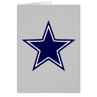 BLUE AND WHITE STAR CARD