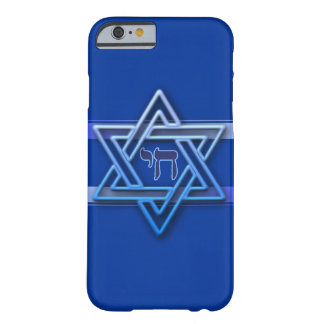 Blue and White Star of David Barely There iPhone 6 Case