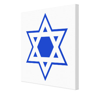 Blue and White Star of David Canvas Print