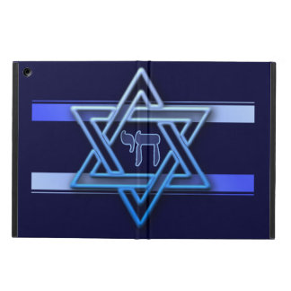 Blue and White Star of David iPad Air Cases