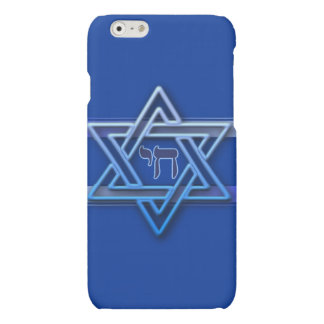 Blue and White Star of David iPhone 6 Plus Case