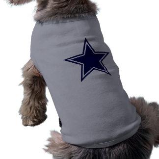 BLUE AND WHITE STAR SLEEVELESS DOG SHIRT