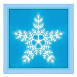 Blue and White Star Snowflake Photograph