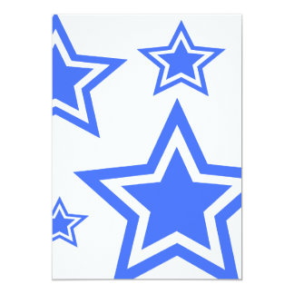 "Blue And White Stars 5"" x 7"" Paper Announcements"