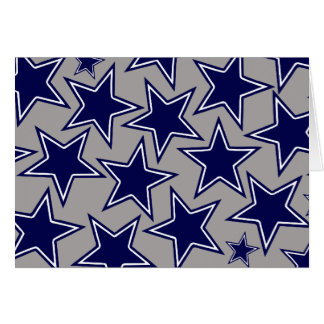 BLUE AND WHITE STARS GREETING CARD