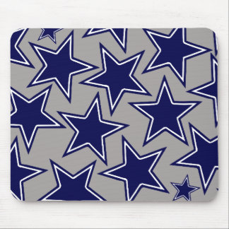 BLUE AND WHITE STARS MOUSE PADS