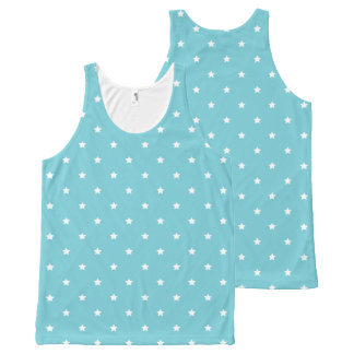 Blue And White Stars Pattern All-Over Print Tank Top