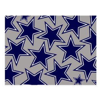 BLUE AND WHITE STARS POSTCARD