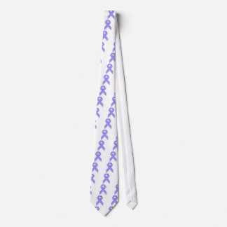 Blue and White Stripe Awareness Ribbon Tie