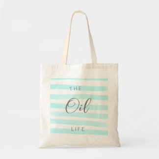 Blue and White Stripe Essential Oil Tote