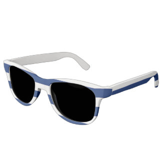 Blue and White Stripe Sunglasses