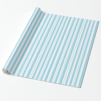 Blue and White Striped Gift Wrap