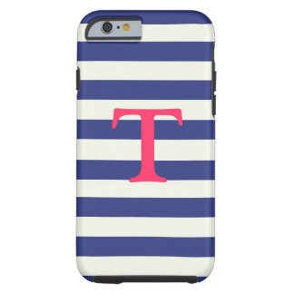 Blue and White Striped iPhone 6 case