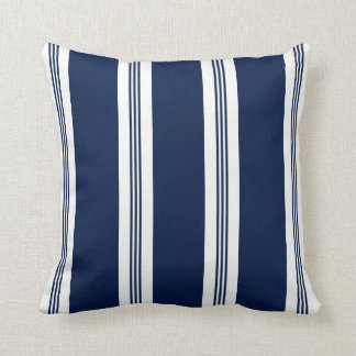 Blue and White Striped, Nautical Cushion