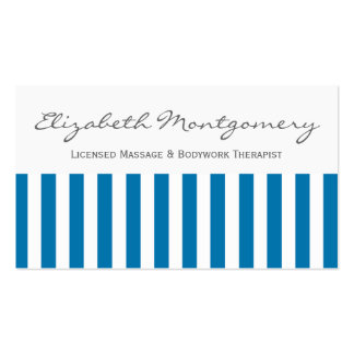 Blue and White Striped Professional Appointment Pack Of Standard Business Cards