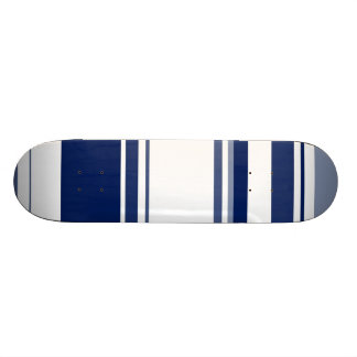 Blue and White Stripes 18.1 Cm Old School Skateboard Deck