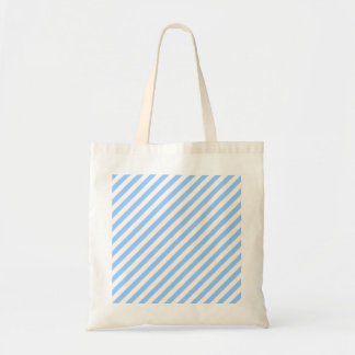 Blue and White Stripes. Budget Tote Bag