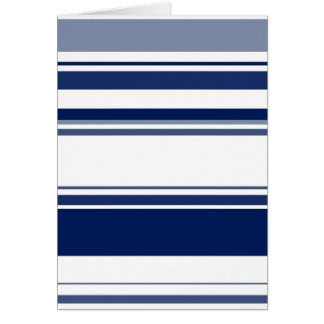Blue and White Stripes Greeting Card