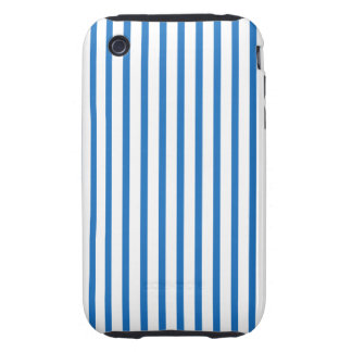 Blue and White Stripes iPhone 3 Tough Case