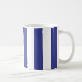 Blue and White Stripes Coffee Mug