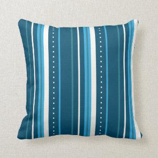 Blue and White Stripes Cushion