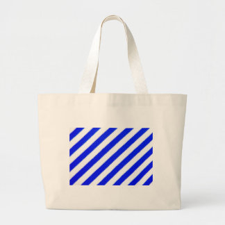 Blue and white stripes design tote bags