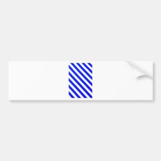 Blue and white stripes design bumper stickers