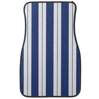 Blue and White Stripes Floor Mat