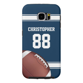 Blue and White Stripes Jersey Football Samsung Galaxy S6 Cases