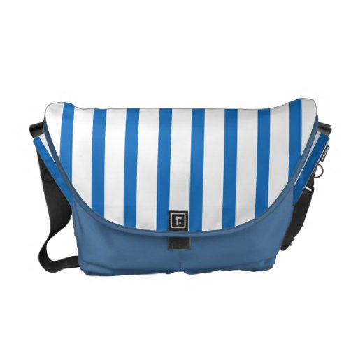 Blue and White Stripes Commuter Bags