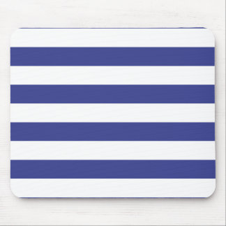 Blue and White Stripes Mouse Mat