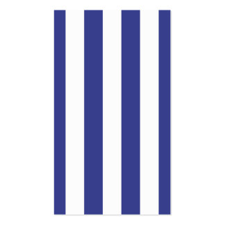 Blue and White Stripes Pack Of Standard Business Cards