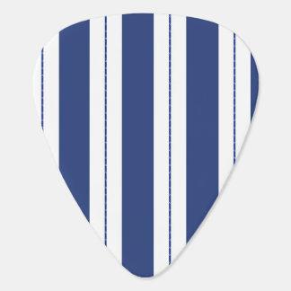 Blue and White Stripes Plectrum