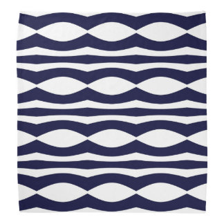 Blue And White Stripes Retro Pattern Bandana