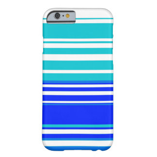 Blue and white stripes seamless painting graphic barely there iPhone 6 case