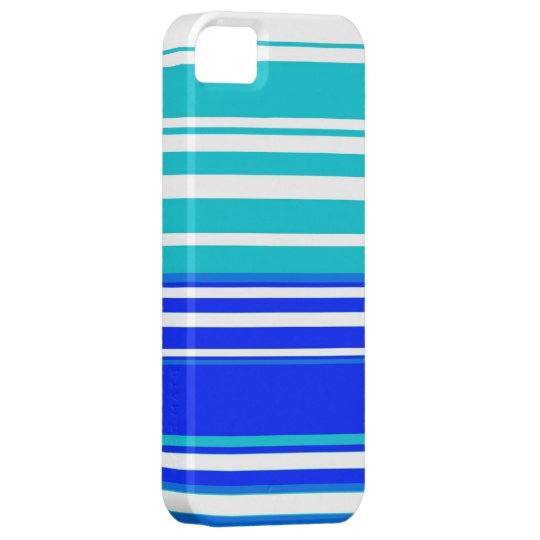 Blue and white stripes seamless painting graphic iPhone 5 cases