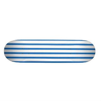 Blue and White Stripes Custom Skate Board
