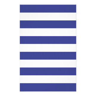 Blue and White Stripes Stationery
