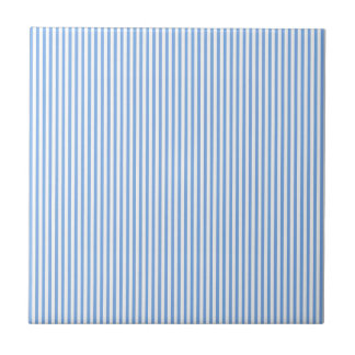 Blue and White Stripes Tile