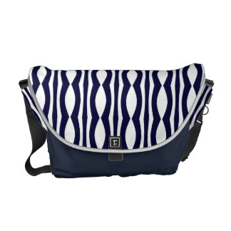 Blue And White Stripes Vintage Pattern Commuter Bag