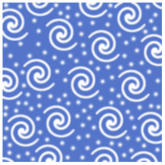 Blue and white swirls and dots pattern cut outs