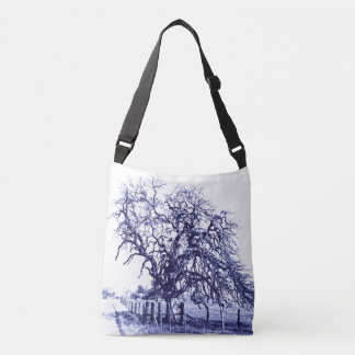 Blue and White Tangled Oak Totes