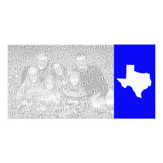 Blue and White Texas Card