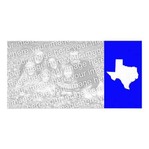 Blue and White Texas Photo Card Template