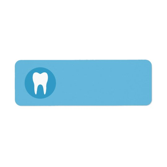Blue and white tooth logo dentist dental blank