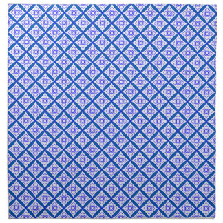 Blue and White Traditional Cathedral Windows Patch Napkin