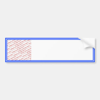 Blue and White Trimmed Photo Template Bumper Stickers