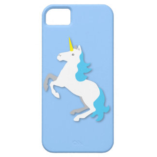 Blue and white unicorn iPhone 5 cover