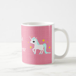 Blue and white Unicorn stars Customisable Coffee Mug