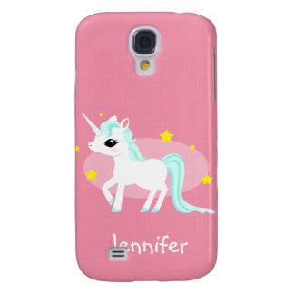 Blue and white Unicorn stars customisable Galaxy S4 Case